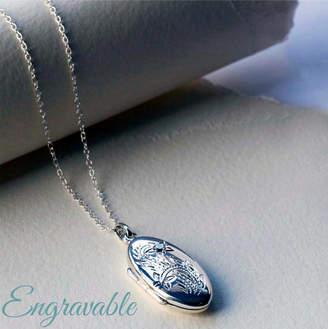 Martha Jackson Sterling Silver Silver Oval Locket Necklace
