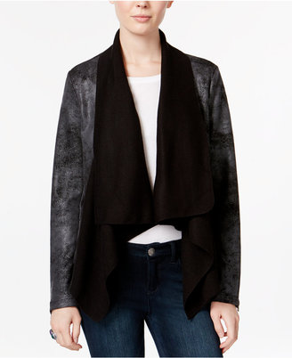 Jessica Simpson Draped Faux-Leather Jacket $99.50 thestylecure.com