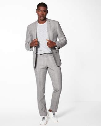 Express Slim Gray Plaid Wool-Blend Suit Pant