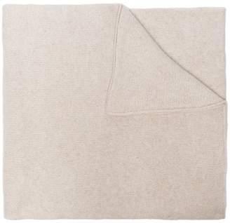 The Elder Statesman White Cashmere Super Soft Scarf