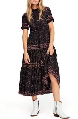 Free People Rare Feeling Pleated Maxi Dress