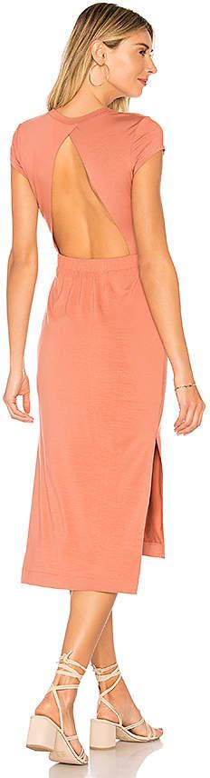 Jersey Open Back Midi Dress