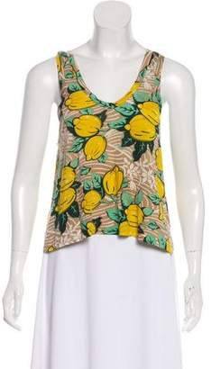 3.1 Phillip Lim Silk Jersey Sleeveless Top