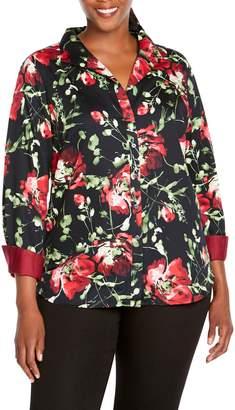 Foxcroft Rhonda in Dreamy Floral Shirt