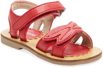 L'amour & Angel Leather Open Toe Sandal