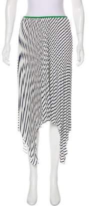 Celine Striped Silk Skirt