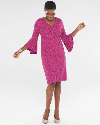 Chico's Chicos Dot Flare-Sleeve Dress