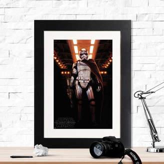 Star Wars Instajunction Captain Phasma Framed Print