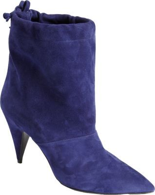 Pierre Hardy Suede Drawstring Ankle Boot