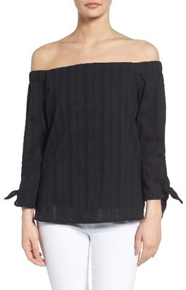 Women's Bailey 44 Yarrow Cotton Off The Shoulder Top $148 thestylecure.com