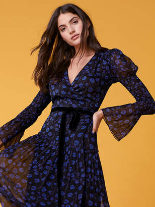 Diane von Furstenberg Ani Puff Sleeve Wrap Dress