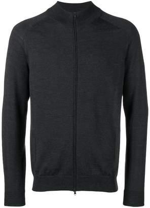 Zanone zip front high neck cardigan