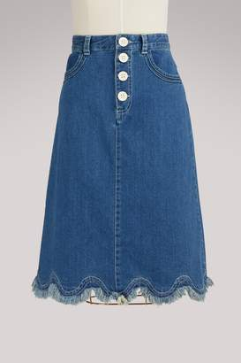 See by Chloe Denim skirt