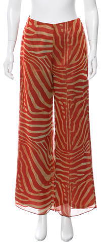 Anna SuiAnna Sui Printed Wide-Leg Pants