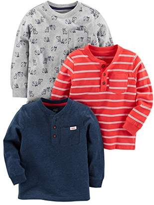 Carter's Simple Joys by Baby Boys' Toddler 3-Pack Long Sleeve Shirt