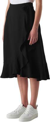 Whistles Mei Ruffle Detail Wrap Skirt