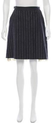 Dice Kayek Striped Wool Skirt