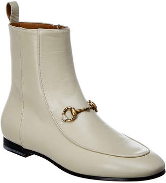Gucci Jordaan Leather Ankle Boot