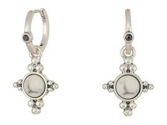 Lucky Brand Set Stone Mini Hoop Earrings