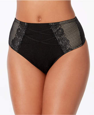 INC International Concepts I.N.C. High-Waist Lace Corset Thong, Created for Macy's