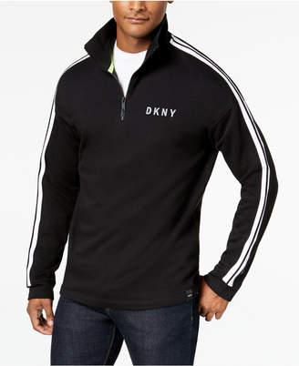 DKNY Men's Quarter-Zip Fleece Pullover
