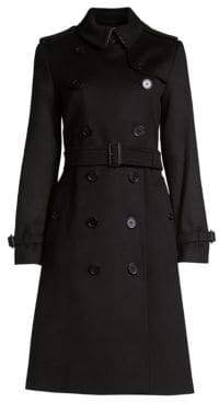 Burberry Kensington Cashmere Trench