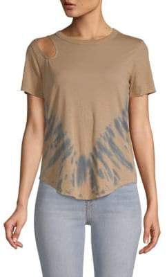 Chaser Tie-Dyed Cut-Out Top