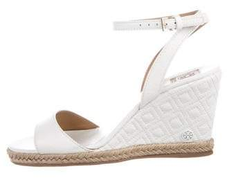 Tory Burch Espadrille Leather Wedges