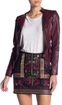 Romeo & Juliet Couture Faux Leather Rocker Jacket
