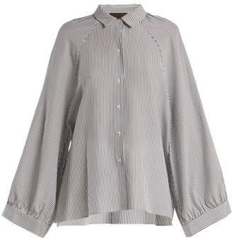 4f19d9129a09b Nili Lotan Leah Striped Silk Shirt - Womens - Blue White