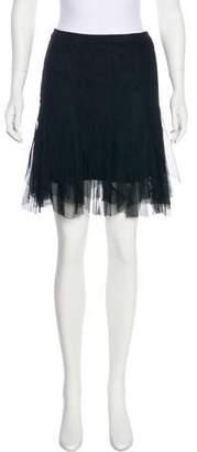 Casadei Tulle Mini Skirt