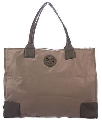 f56629932040 Tory Burch Leather-Trimmed Ella Tote