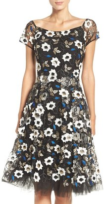 Women's Eci Sequin Embroidered Fit & Flare Dress $225 thestylecure.com