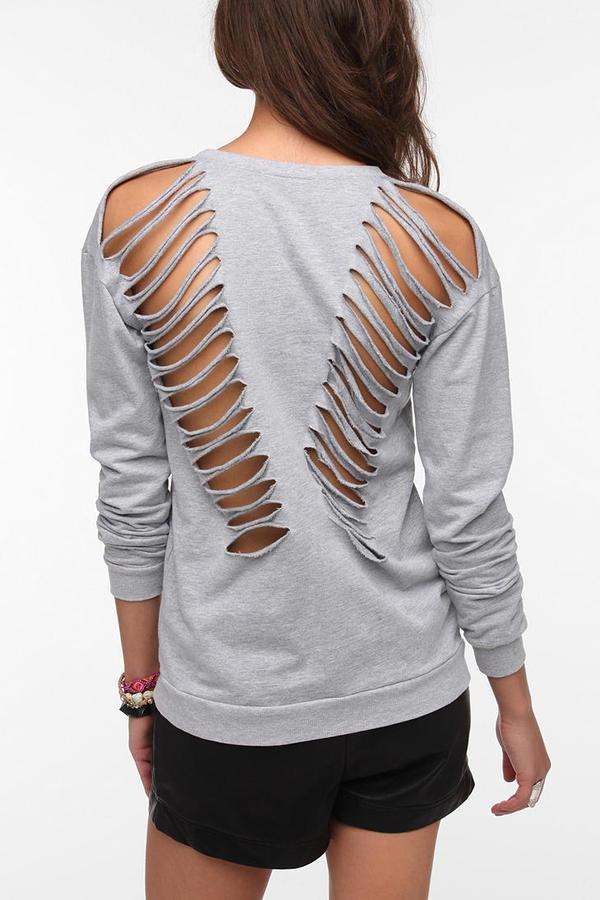 Truly Madly Deeply Slash-Back Sweatshirt