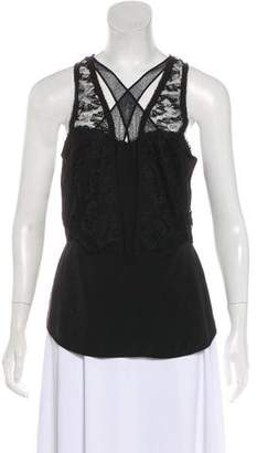 Zac Posen Lace-Accented Sleeveless Top
