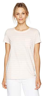 Nautica Women's Short Sleeve Top with Back Lacing Detail