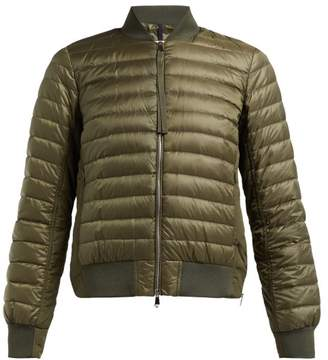 Moncler Rome Down Filled Bomber Jacket - Womens - Khaki