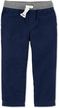 Carter's Baby Boys Ribbed-Waist Cotton Pants