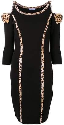 Blumarine leopard print panel dress