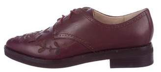 French Connection Embroidered Leather Oxfords