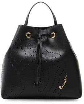 Braccialini Patterned Leather Backpack