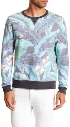 Sol Angeles Lanai Leaf Print Pullover Sweater