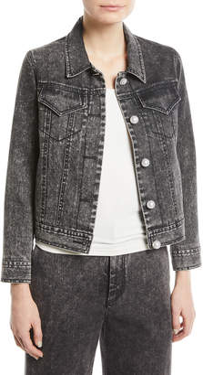 ADAM by Adam Lippes Denim Twill Jacket w/Pearly Buttons