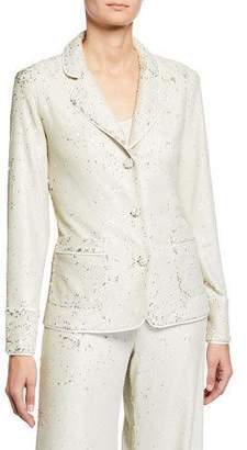 Alexis Ripley Sequined Three-Button Jacket