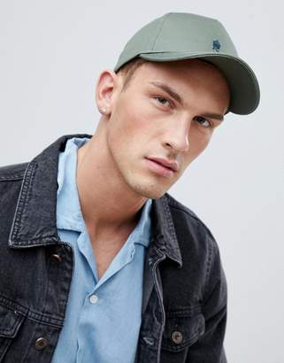 French Connection Crown Baseball Cap In Khaki