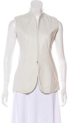 DKNY Leather Zip-Up Vest w/ Tags