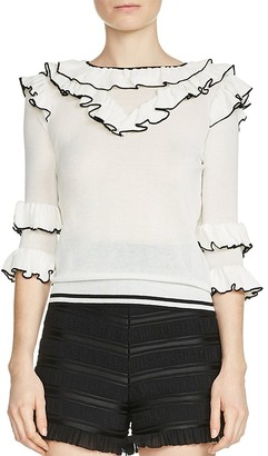 Maje Moreno Tiered-Ruffle Sweater $220 thestylecure.com