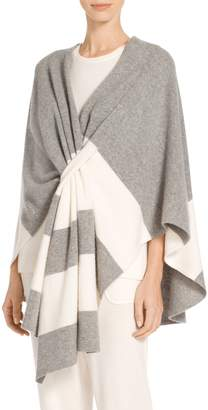 St. John Felted Wool Stripe Knit Wrap