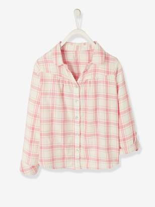 Vertbaudet Iridescent Plaid Shirt for Girls