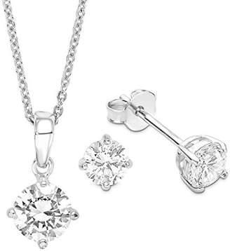 Amor Women 9 k (375) Silver Zircon Accessories